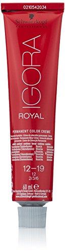 Schwarzkopf Igora Royal Premium-Haarfarbe 12-19 spezialblond cendré violett, 1er Pack (1 x 60 g)