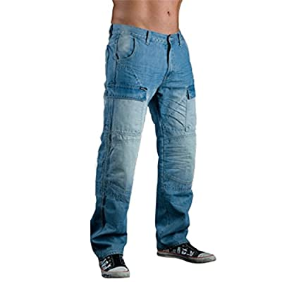 Juicy Trendz Men's Motorcycle Motorbike Cargo Jeans Protection Lining Trouser include Armours