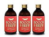 Booch & Brew Award Winning Vegan Kombucha - Triple Grapefruit Flavour | 12 x 300ml Raw Unpasteurised Kombucha Drink with No Artificial Nasties | Non-Alcoholic Kombucha Tea Drink