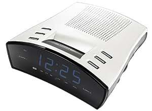 Scott CX 82 Radio réveil digital FM/AM Argent