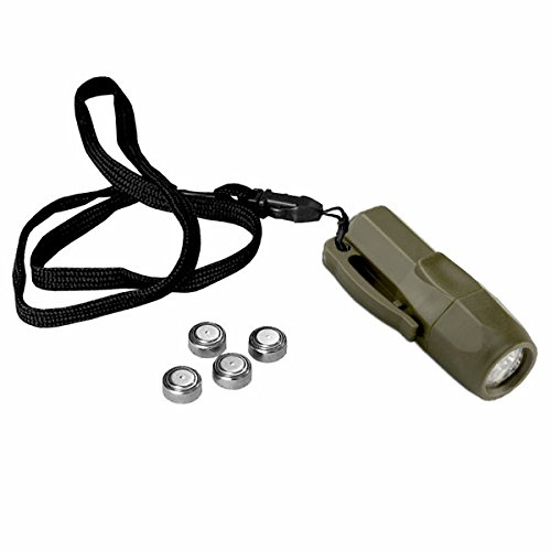 100.000 Stunden Mini Taschenlampe Survival Camping LED Lampe Notfall Kinder Army Bundeswehr Prepper Klein Bear Licht Tactical EDC Every Day Carry #18628 (Taschenlampe Survival Mini)