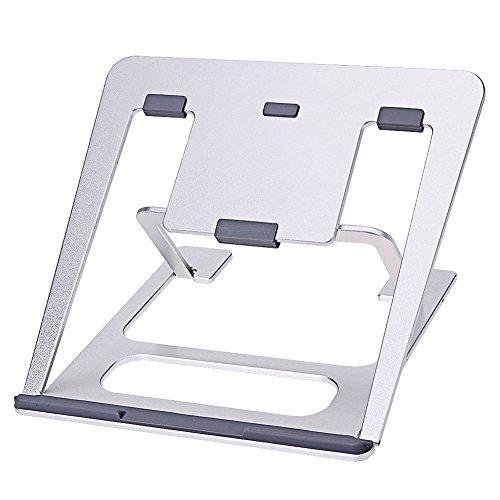 """Preisvergleich Produktbild Laptop Aluminium Ständer, beweglicher faltbarer Notebook Kühler Tischhalterung für 11 """"-14"""" MacBook"""