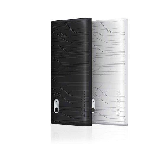 Belkin Grip Duo Silikon Sleeve per Apple iPod nano 5G,confezione da 2, colore: Nero/Trasparente