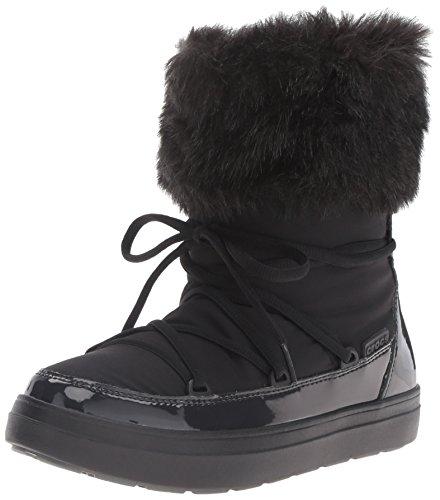 crocs-lodgeptlacebtw-botas-para-mujer-nero-black-39-40-eu