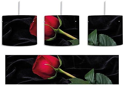 Rose inkl. Lampenfassung E27, Lampe mit Motivdruck, tolle Deckenlampe, Hängelampe, Pendelleuchte - Durchmesser 30cm - Dekoration mit Licht ideal für Wohnzimmer, Kinderzimmer, Schlafzimmer