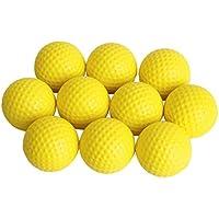 10pcs Espuma Suave PU Pelota Ball Bola De Golf Para Práctica Formación Amarillo