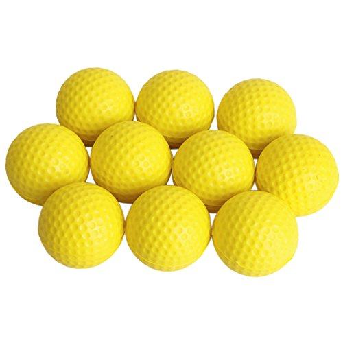 10pcs Balle de Practice Formation de Golf Balle en Mousse PU - Jaune