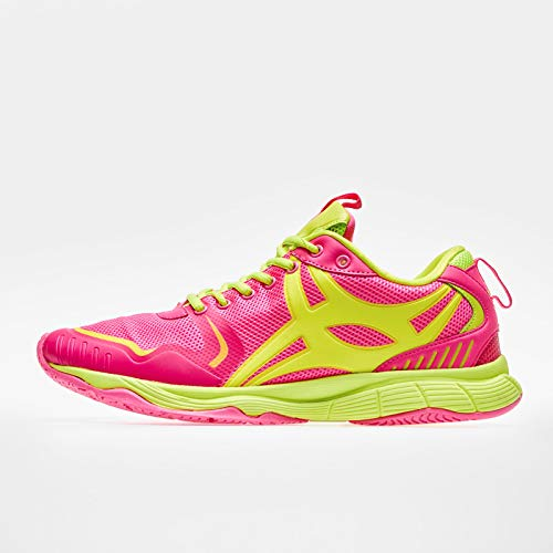 Gilbert Synergie X5 - Chaussures de Netball - Rose/Jaune