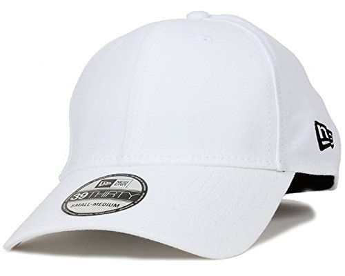 New Era 39Thirty Herren-Baseball-Kappe, hinten elastisch, Herren, Ne Basic 39Thirty, Weiß (whiblk)