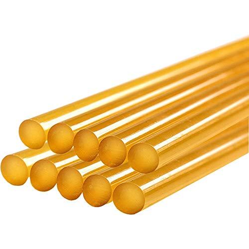 Randalfy Standard Klebesticks Ø11 mm Klebesticks Heißkleber für Ausbeulwerkzeug Dellen Reparaturset Gleithammer Ausbeulwerkzeug - 10 Stück gelbe Klebesticks Klebesticks