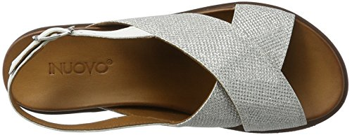 Inuovo 7157, Talons Compensés Femme Weiß (SILVER-WHITE)