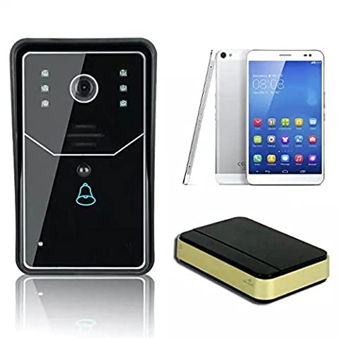 WiFi Klingeln,, BW 2,4G WiFi Video Türsprechanlage Türklingel Funk Gegensprechanlage Home Verbesserung Visual Tür Ring unterstützt IOS Android App für Handy