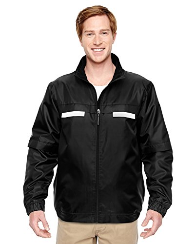 Adult Survey Fleece-Lined All-Season Jacket BLACK 4XL -