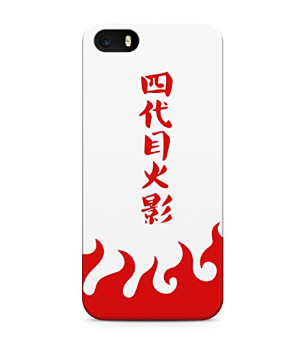 Naruto Fifth Hokage Red Hard Plastic Snap On Back Case Cover For iPhone 5 / 5s Custodia