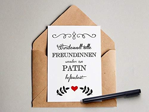 Freundin/Patin Postkarte