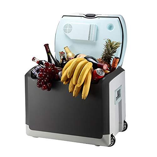 40L De Gran Capacidad del Coche Refrigerador Handle Diseño Compacto Hogar del Coche De Doble Uso Al Aire Libre Más Fresca Y MáS Portátil Mini Nevera con Ruedas para Camping, Pesca