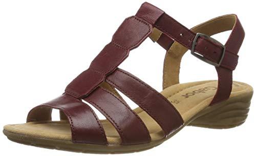 Gabor Shoes Casual, Sandali con Cinturino alla Caviglia Donna, Rosso (Dark-Red 55), 44 EU