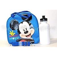 Disney Licensed: Lunch Bag for Kids Girls with Water Bottle & Adjustable Shoulder Strap (Blue MickeyMouse) by Disney preisvergleich bei kinderzimmerdekopreise.eu