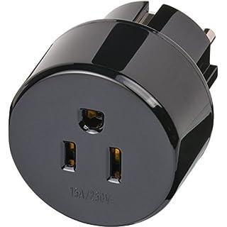 Brennenstuhl Reisestecker / Reiseadapter (Reise-Steckdosenadapter für: Euro Steckdose und USA & Japan Stecker) Farbe: schwarz