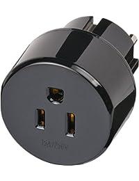 4er Set: Brennenstuhl Reisestecker/-adapter USA, Japan - Schutzkontakt schwarz, 1508520