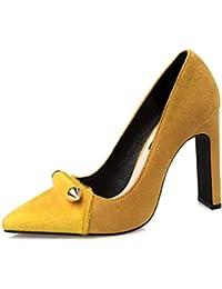 Las Mujeres Zapatos de tacón Grueso Tacones Zapatos de Fiesta tacón Alto  Taco 1abeb6da8922