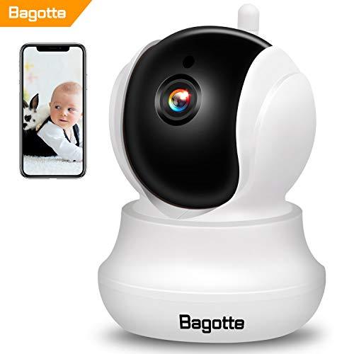 Bagotte Telecamera di Sorveglianza Wireless 720P HD IP Camera Wifi /P2P,Con Visione Notturna a Infrarossi, Rilevamento del Movimento e Allarme E-mail, Compatibile, Con Android/iOS / Computer …