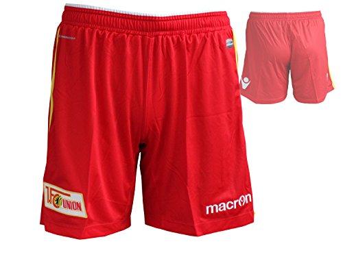 Macron 1.FC Union Authentic Home Short/Spielerhose 1.FCU Heim Fußball-Hose rot