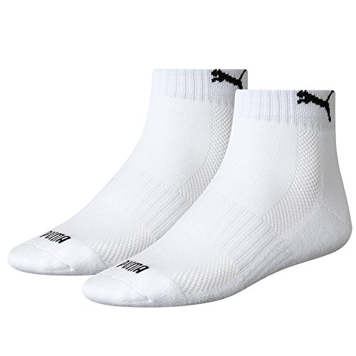 Puma Sports Socks (Asstd. Colours) Unisex Cushioned Match Quarter (2 Pair Pack)