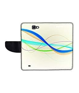 KolorEdge Printed Flip Cover For Samsung Galaxy Note 2 N7100 Multicolor - (55KeMLogo11377SamN7100)
