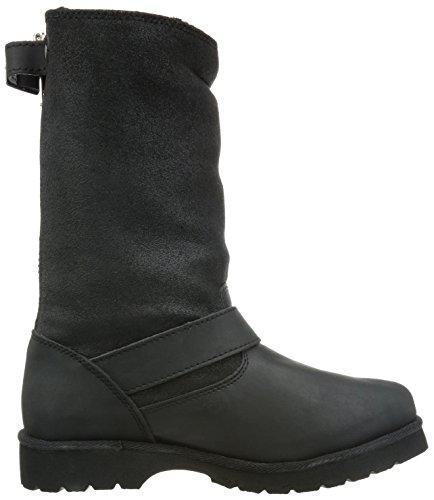 Buffalo12844 ACTION NUBUCK HEDOSA - Scarponi da neve imbottiti, a mezza gamba Donna Schwarz (BLACK723)