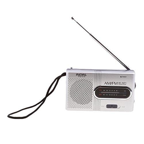 H HILABEE Tragbares Pocket Mini Radio, BC R21 FM/AM, Betrieben Von 2 AA Batterien Mit Kopfhöreranschluss, Port Radio. Entwickelt Für Leben Und Komfort (Splitt (Fm Pocket Lautsprecher Radio Am Mit)