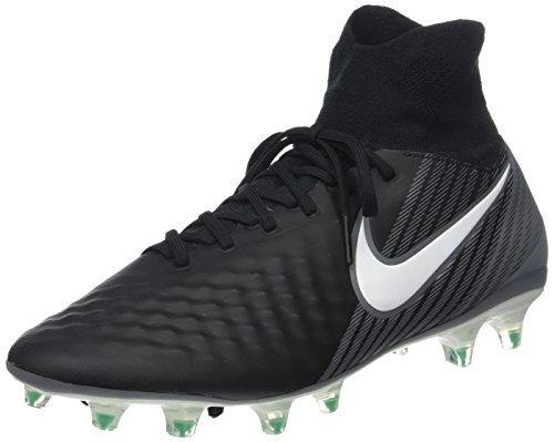 Nike Herren Magista Orden II FG Fußballschuhe, Schwarz (Black/White-Dark Grey-Stadium Green), 43 EU Herren Nike Schuhe Orange