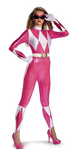 KULTFAKTOR GmbH Sexy Power Rangers Damenkostüm Lizenzartikel pink-Weiss S (90's Power Ranger Kostüm)