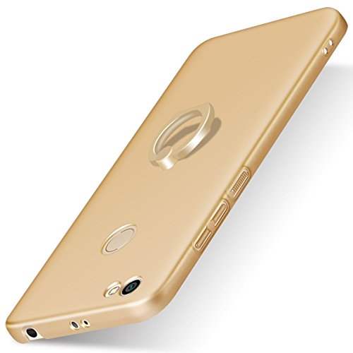 Xiaomi RedMi Note 5A Prime Hülle, TIANQIN Ultra Leichte Schutzhülle Ultra dünnes PC Cover Harte Schale Anti-Scratch Stoßstange Einfache Stilvolle Abdeckung für Xiaomi RedMi Note 5A Prime - Gold