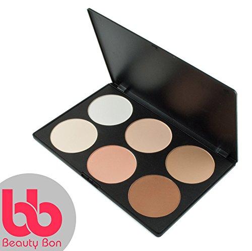 Beauty bon, kit per contouring, 6colori professionali per contouring del viso, palette di trucchi in polvere