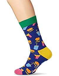 Happy Socks Unisex Hamburger Sock, Blau (Navy 6000, 41-46