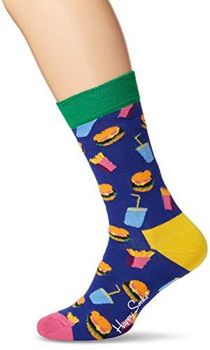 Preisvergleich Produktbild Happy Socks Unisex Hamburger Sock,  Blau (Navy 6000,  41-46