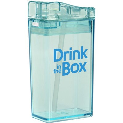 Drink In The Box Gourde à paille, bleu