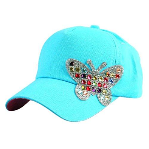 Queenbox Casquette Réglable Extérieure Bébé Printemps pour les Enfants  Diamants Briller Chapeau de Papillon Enfants Snapback 591bd794ce8