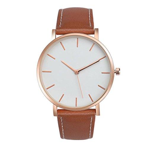 Sunnywill Frauen Mädchen Damen Schöne Mode Retro Design PU Leder Band analoge Armbanduhr für Weibliche