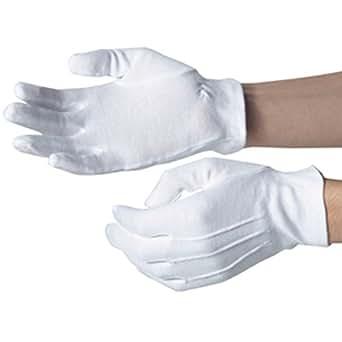 Dennys, White Serving or Formal Glove Elasticated Medium