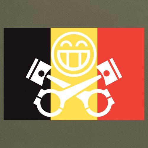 PistonHeads Belgium T-Shirt, Herren Olivgrn