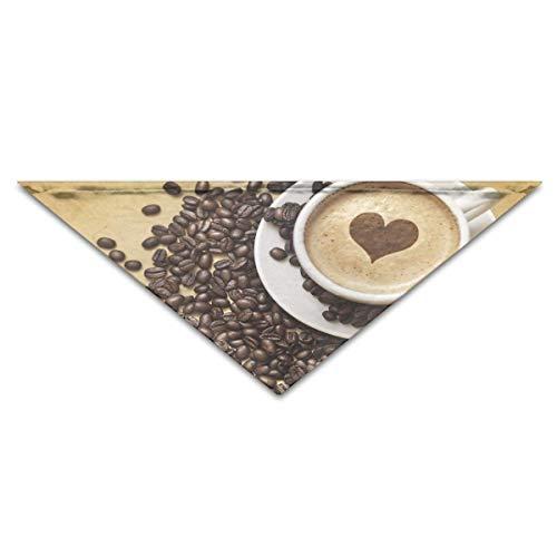Hausgemachte Kostüm Halloween - dfegyfr Dog Bandana Scarf Triangle Bibs Coffee Love Kerchief,Cats Birthday S2 Bandana Bibs Triangle Head Scarfs Accessories