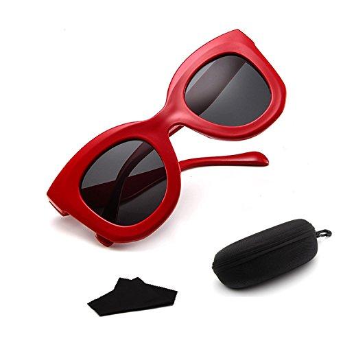 Sonnenbrillen Damenmode Retro Persönlichkeit Sonnenbrillen Oval polarisierte Brille Multi-Color Wahl geeignet für Jede Art von Gesicht Sonnenbrillen (Color : Leopard Print on Black)