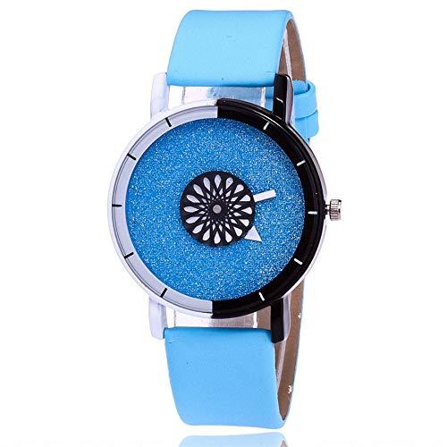 hr Sportuhr Frauen Casual Quartz Lederband Strap Uhr Analoge Armbanduhr Klassisch Uhr Mode Uhrenarmband,ABsoar ()
