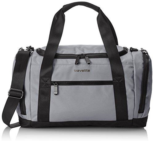 Travelite Travel Bag Flow Size S in grey Valise, 40 cm, 23 liters, Gris (Grey)