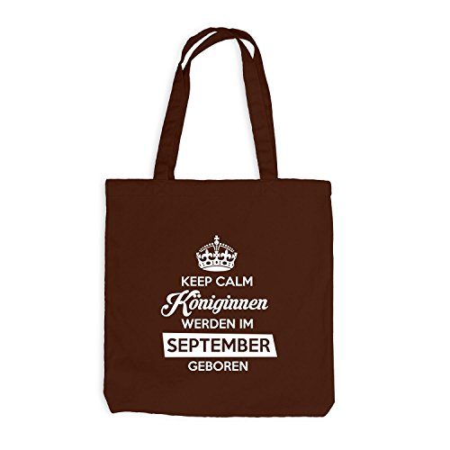 Jutebeutel - Keep Calm Königinnen SEPTEMBER geboren - Birthday Geburtstag Chocolate