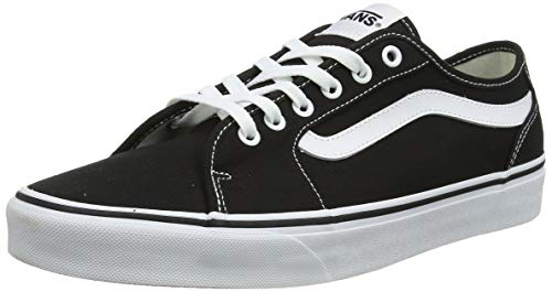 Vans Herren Filmore Decon Sneaker, Schwarz ((Canvas) Black/White 187), 46 EU Herren Casual Dress Schuhe