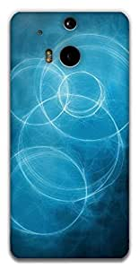 The Racoon Grip blue circles hard plastic printed back case / cover for HTC One (M8)