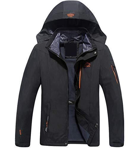 INVACHI Herren Winter Funktionsjacke Doppeljacke Wasserdicht Hardshelljacken Camping Softshell Jacket Fleecejacke Regenjacke
